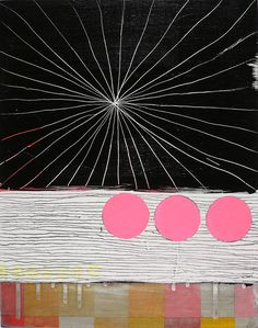Original Geometric Painting in pink and black by the über talented Jennifer Sanchez. #AmandaBrown #BrownBearStudio