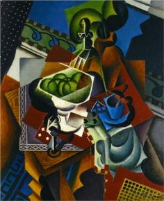 Still Life, Playing Cards, Coffee Cup and Apples  - Jean Metzinger. Cubism, Puteaux Group, Neo-Impressionism, Fauvism, Divisionism