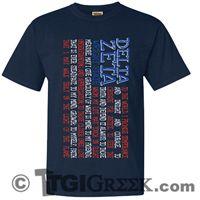 TGI Greek Tshirts - Delta Zeta - Motto - USA - Amercian flag