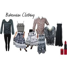 Bohemian Clothing by mogulinteriordesigns on Polyvore featuring Topshop, M&Co and Rimmel