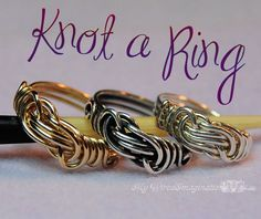 Wire  Knot a Ring - All Wire Ring - Jewelry Tutorial - Instant Downloadable PDF File