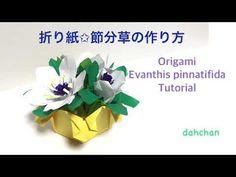 花の折り紙✩節分草の作り方✩Origami Evanthis pinnatifida tutorial