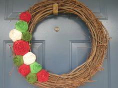 Adorable flower vine wreath