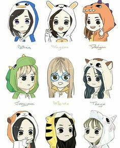 › Twice [chibi] ‹ Nayeon, Kpop Girl Groups, Korean Girl Groups, Kpop Girls, Twice Dahyun, Tzuyu Twice, Kpop Anime, Anime Guys, Kpop Drawings