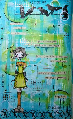 Art journal - New Year by thekathrynwheel, via Flickr