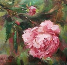 Pretty In Pink, painting by artist Mary Maxam
