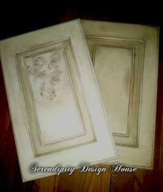 Design ideas for Kitchen Cabinet refacing using Annie Sloan Chalk Paint and some with Wood Icing.