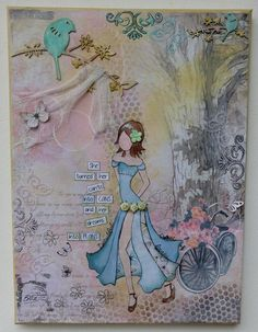 Canvas using the Celebr8 Heart-itude papers.. based on tutorial by Gabrielle Pollacco