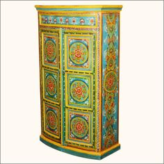 This resplendent two-door #Wardrobe #Armoire Storage Closet is rich with the beauty and culture that is India. Traditional Indian furniture pieces with their stunning color and style is a perfect choice for your home. This piece could be used in any room for linens, towels, clothing, dishware or any other storage need http://www.sierralivingconcepts.com/