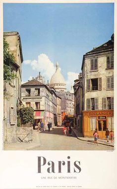 Paris Travel Poster (1955)