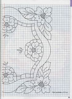 Il ricamo a intaglio: Coprivassoio_2 Applique Patterns, Applique Designs, Quilting Designs, Machine Embroidery Designs, Cross Stitch Patterns, Quilt Patterns, Cutwork Embroidery, Embroidery Stitches, Southwestern Quilts