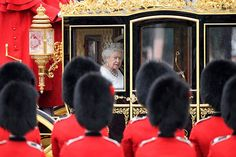 The couple travelled to Parliament in the Diamond Jubilee State Coach