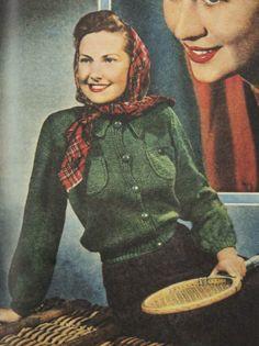 Lumber Jacket - Free pattern from the Australian Women's Weekly, 1946
