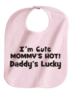 Customize the personalized baby bibs with any texts as you like.