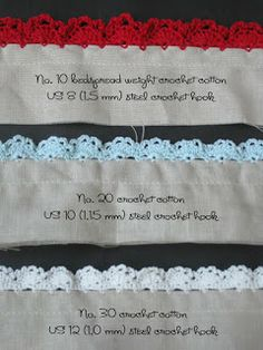 Eyelet lace trim. This is shown on a robe, but it also works amazingly well for baby receiving blankets (both fleece and cotton). Free pattern