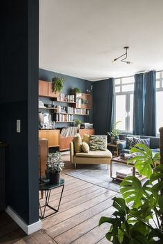 A Warm & Cozy Blue Apartment in Antwerp