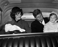 Jack and Jackie take the kids to their new home, February 1961.