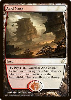 Arid Mesa, zeerbe, proxy, digital render, MTG, Z's Proxy Factory, fetch land, Magic the Gathering