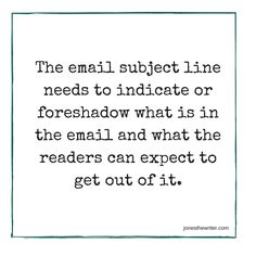 Write the perfect email subject so that people actually read what you've written.