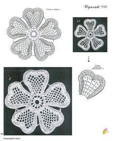 Lace flower with diagram