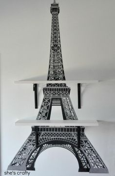 She's Crafty used our Eiffel Tower wall decal to decorate her daughter's Paris-themed room. Love it! ^nk #decor