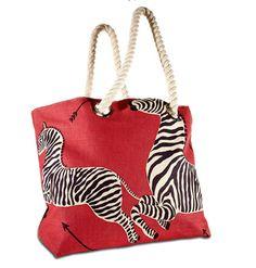 love this new Scalamandre Zebra tote //