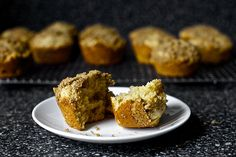 rhubarb-streusel-muffins from Smitten Kitchen. Compare to the ones from Simply in Season