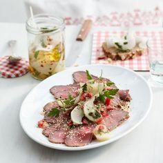 Rezept: Roastbeef mit Rübchen-Salsa - [LIVING AT HOME]
