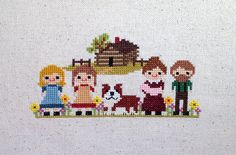 Little House on the Prairie is the story of a great American adventure on the frontier. Ma, Pa, Mary, Laura, Baby Carrie, and Jack the bulldog have just finished building their log cabin on the prairies of Kansas among the wildflowers. My patterns come with a color image, full symbol