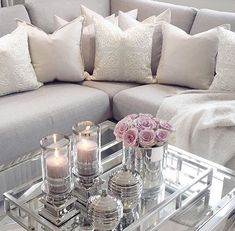 beautiful pillows and that table placement ❤️