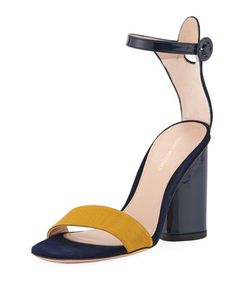 Kimly Chic City Colorblock Sandal  by Stuart Weitzman at Neiman Marcus.