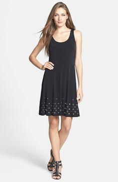 MICHAEL Michael Kors Grommet Detail Stretch Knit Circle Dress available at #Nordstrom
