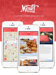Markt is an iOS app. It's the easy way to discover markets in London. www.marktapp.co.uk  UX/UI + iOS design ftw.