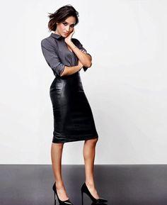 Meghan Markle - leather skirt                                                                                                                                                                                 More