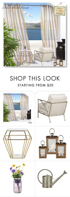 """Sea view"" by pengy-vanou on Polyvore featuring interior, interiors, interior design, home, home decor, interior decorating, Safavieh, Modern Sprout, beachhouse and polyvorecontest"