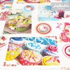 jubelis® Tischdecken aus Wachstuch ganz pflegeleicht Motiv Cupcake