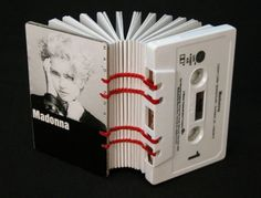 Cassette Tape Books by Erin Zamrzia from Fuck Yeah, Book Arts! on tumblr