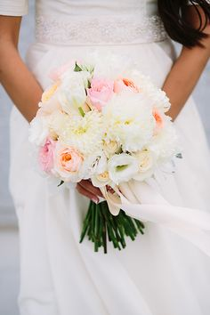 Floral Design by Erin | Valory Jean Photography | Blush garden rose and peony wedding bouquet