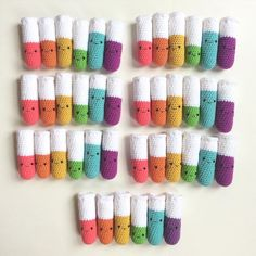 Happy Saturday!! I hope these little rainbow test tubes brighten your day! Its raining and gloomy here so they sure are making me smile!  I hope you're having a great weekend! Anyone have any exciting plans?  #crochet #amigurumi #crochettesttubes #amigurumitesttubes #chemistry #testtubes #chemset #crochetchemistryset #joann #makersonnamake #crochetersofinstagram #crocheter #yarn #yarnaddict  #yarnstagram #science #sciencestuff #boyeyarncrafts #supporthandmade by amenagerieofstitches