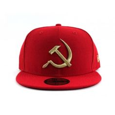 USSR New Era 59fifty Fitted Hat (RED METALLIC GOLD) c3956d5e7bc