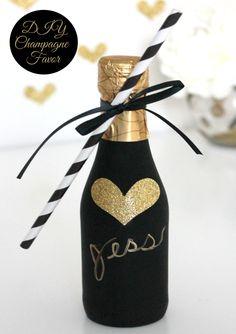 DIY Champagne Bottles - mini party favors for any celebration!