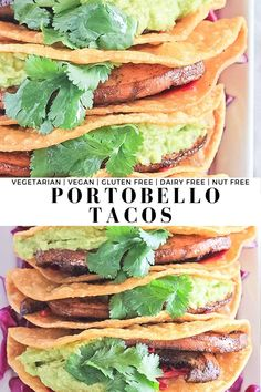 Portobello Tacos - The star of these easy vegan tacos is definitely the marinated portobello mushrooms! Add in the limed cabbage, guacamole and cilantro and you're all set for Taco Night! So easy and seriously off the charts good. #finishedwithsalt #vegantacorecipes #portobellotacos #veggietacos #vegetarian | finishedwithsalt.com Healthy Gluten Free Recipes, Healthy Dinner Recipes, Real Food Recipes, Vegan Recipes, Vegan Meals, Veggie Tacos, Healthy Tacos, Easy Healthy Dinners, Portobello