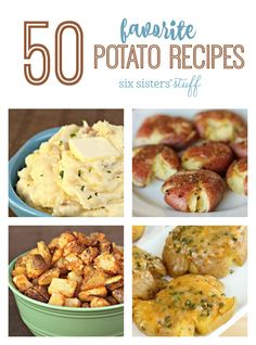 We love our comfort food, and there is nothing like delicious potatoes to go along with your family's favorite dinners. Today we are sharing our top 50 favorite potato recipes! Potato Side Dishes, Best Side Dishes, Healthy Side Dishes, Vegetable Side Dishes, Vegetable Recipes, Healthy Snacks, Healthy Recipes, Main Dishes, Real Food Recipes