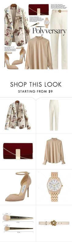 """""""Celebrate Our 10th Polyversary! (work wear)"""" by beebeely-look ❤ liked on Polyvore featuring Haider Ackermann, Dorothy Perkins, Jimmy Choo, Handle, Gucci, WorkWear, floral, polyversary, workblazer and twinkledeals"""