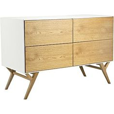 Easel White Sideboard