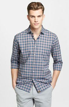 Billy Reid 'John T' Plaid Cotton Shirt available at #Nordstrom