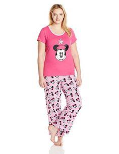 Disney Women's Ladies Knit Pajama Set Minnie Plus, Pink, Extra soft. Easy to care. Pajama Set, Pajama Pants, Disney Gift, Pajamas Women, Knitting, Lady, Image Link, Pink, Gift Ideas