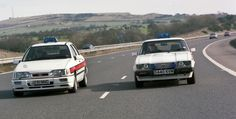 The last Ford Capri to see service with Greater Manchester Police alongside the Ford Sierra Cosworth that replaced it. British Police Cars, Old Police Cars, Ford Police, Emergency Vehicles, Police Vehicles, Manchester Police, Ford Sierra, Ford Capri, Emergency Response