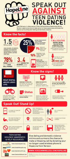 Speak Out Against Teen Dating Violence   #Infographic #TeenDating #Valentine