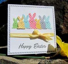 by Susiespotless - Cards and Paper Crafts at Splitcoaststampers Diy Easter Cards, Easter Crafts, Handmade Easter Cards, Scrapbooking, Scrapbook Cards, Cricut Cards, Stampin Up Cards, Making Greeting Cards, Hoppy Easter